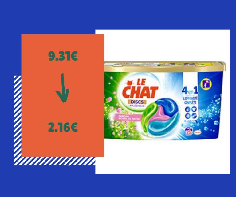 Read more about the article Optimisation du jour : lessive Le Chat Discs