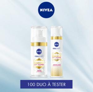 Read more about the article Test duo Anti-Taches Cellular Luminous630® de Nivea.
