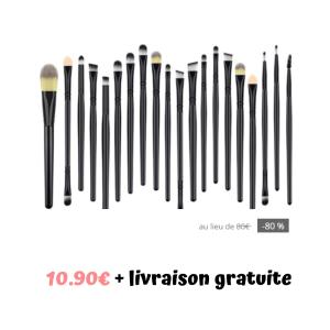 Bon plan beauté : lot de 20 pinceaux  SMINKà un super prix