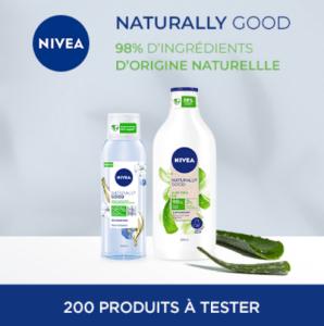 Test gratuit le Lait hydratant Aloe Vera Bio – Naturally Good de Nivea