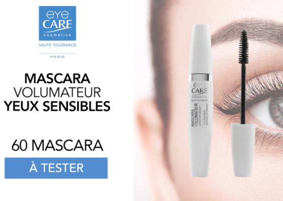 test gratuit  du mascara volumateurs Eye Care Cosmetics
