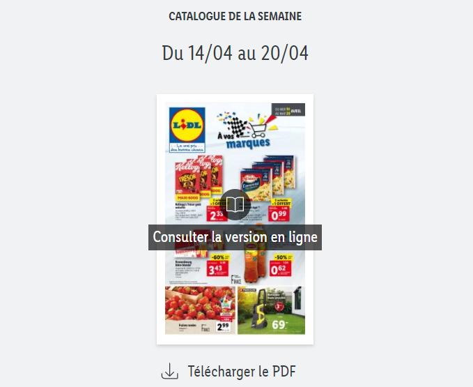 Catalogue Lidl  de la semaine du 14 au 20 avril 2021