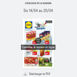 Catalogue Lidl  de la semaine du 14 au 20 avril 2021