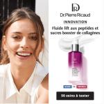 Test gratuit du soin Fluide lift aux peptides et sucres booster de collagènes de Dr Pierre Ricaud