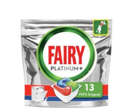 Capsules pour lave-vaisselle tout-en-1 platinum+ original peps