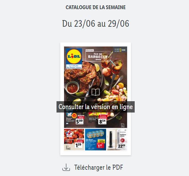 Read more about the article Catalogue Lidl  de la semaine du 23 au 29 juin 2021