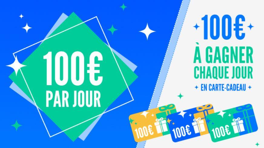 Read more about the article Concours : 7 cartes cadeaux de 100€ à gagner