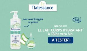 Read more about the article Test gratuit :  le Lait corps hydratant à l'Aloe vera bio Natessance®