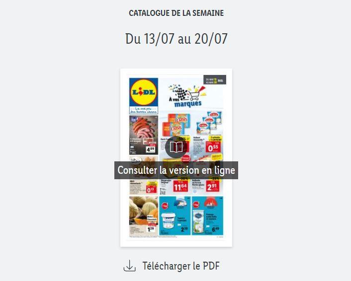 Read more about the article Catalogue Lidl  de la semaine du 13 au 20 juillet 2021