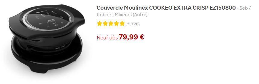 Couvercle Moulinex COOKEO EXTRA CRISP