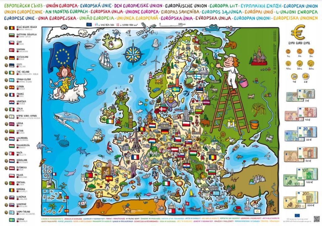 Carte de l'Europe gratuite