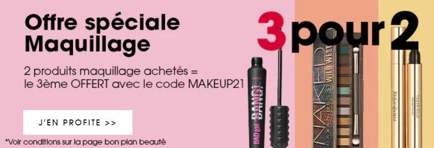 Offre spéciale maquillage chez Sephora