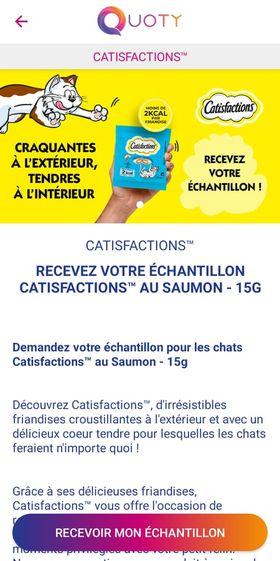 Echantillon gratuit : Catisfaction