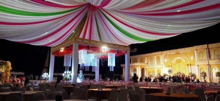 Lokasi acara yang sudah dihias cantik untuk resepsi pernikahan anak Wakil Wali Kota Samarinda. Namun belakangan karena wabah korona, resepsi itu dibatalkan. (prokal)