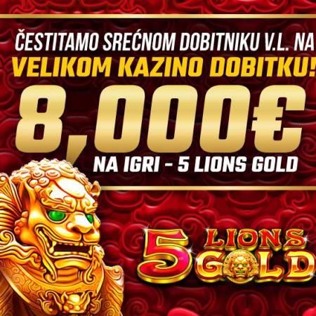 Sjajan kazino dobitak u iznosu od 8000€ otišao u sunčanu Budvu!!!