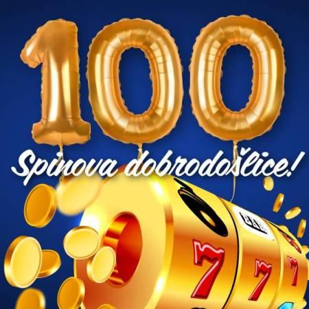 Uzmi 100 besplatnih spinova u julu!