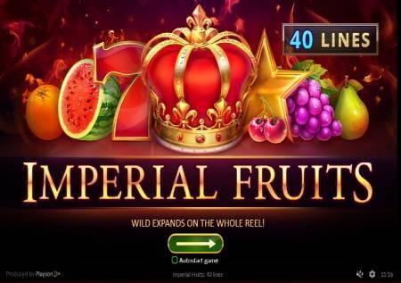 Imperial Fruits: 40 lines – neodoljive voćkice u novoj kazino igri!