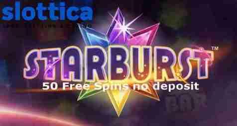 Казино Slottica: 50 бесплатных вращений без депозита на Starburst (NetEnt)