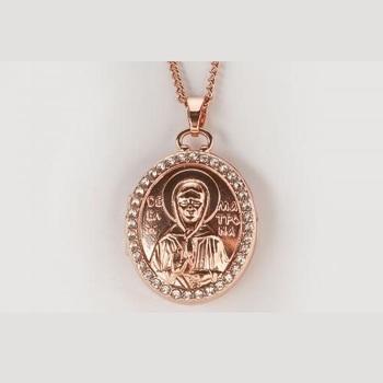 Икона медальон Матрона Московская
