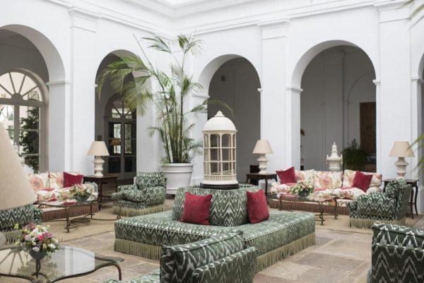 the lobby at Finca Cortesin Hotel