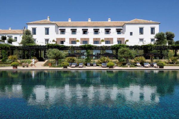swimming pool at Finca Cortesin in Spain