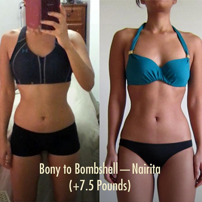 Nairita's Bony to Bombshell Transformation