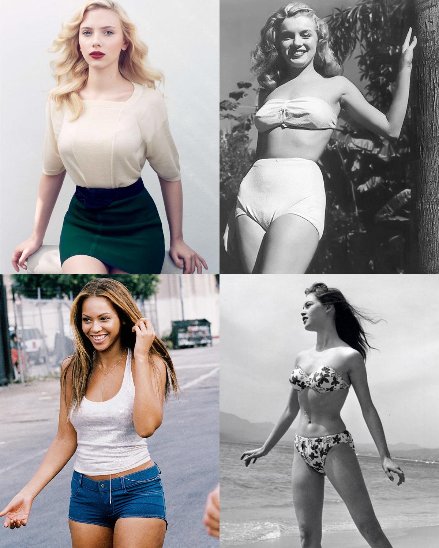 wide-hips-small-waist-scarlett-johansson-marilyn-monroe-beyonce-brigitte-bardot