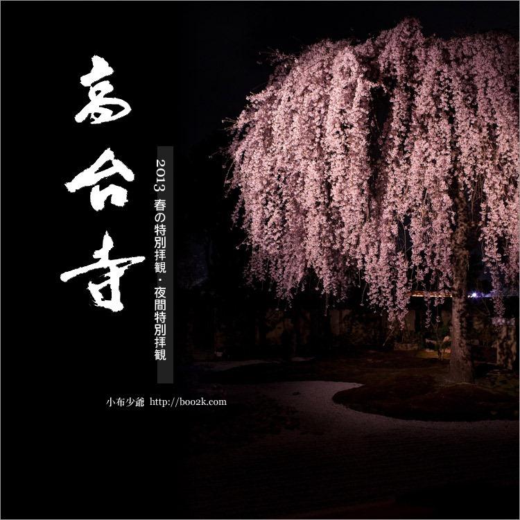2013京都賞櫻:高台寺夜間特別拜觀~高台寺夜櫻~