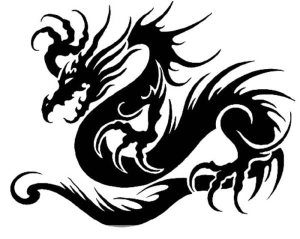 Трафареты Драконов скачать бесплатно