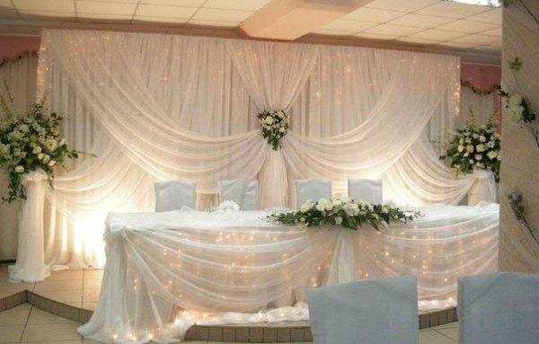 Украшение зала на свадьбу своими руками фото