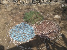 permaculture ethics mosaic survived the winter!