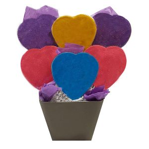 Sparkly-Hearts-Cookie-Bouquet