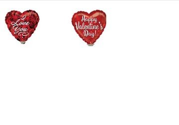 valentine day balloons