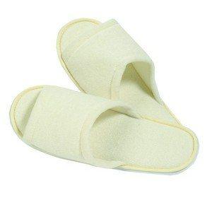 Bath & Spa Accents Beige Bath Slippers