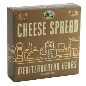 Twenty Valley Mediterranean Herbs Gourmet Cheese Spread Gold 3.75 oz