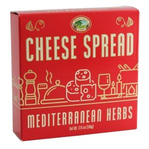 Twenty Valley Mediterranean Herbs Gourmet Cheese Spread Red 3.75 oz