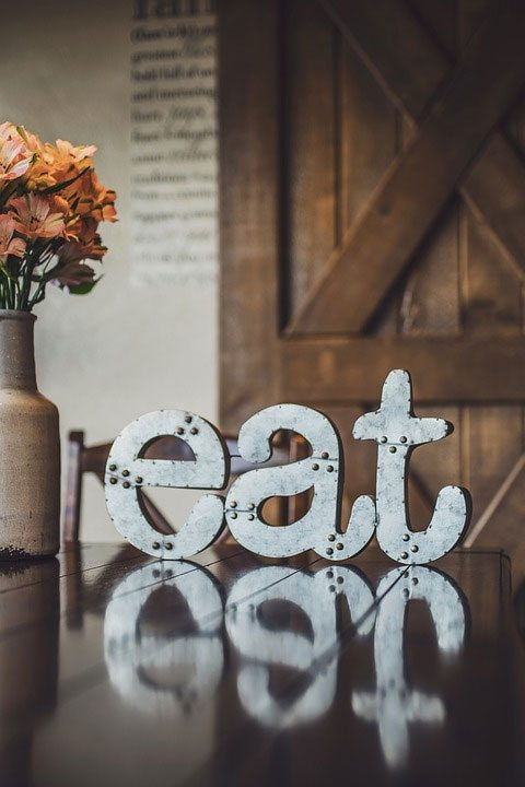 banner with eat sign