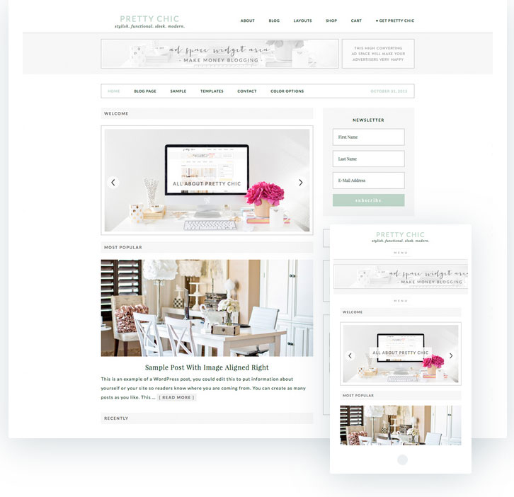 Pretty chic wordpress template