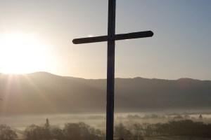 Easter sunrise cross