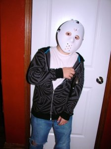 Teen dressed up for Halloween