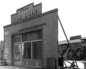 old western fake movie set