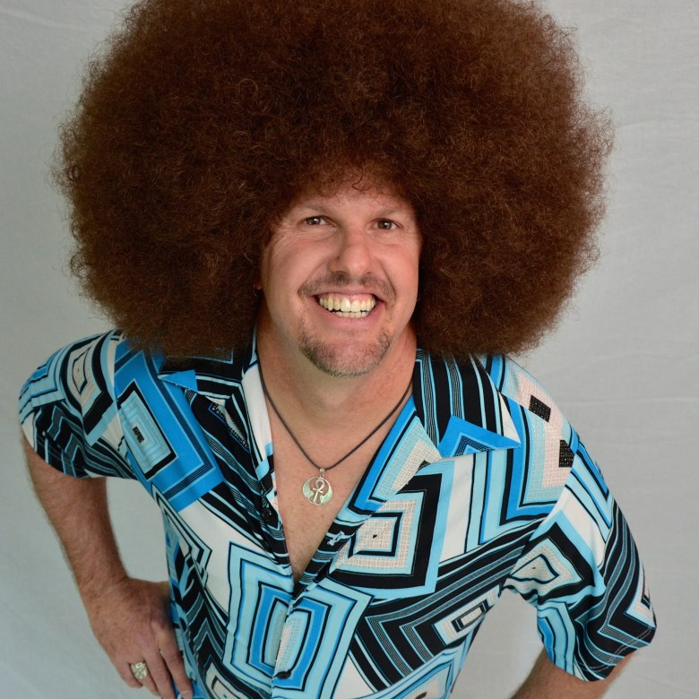 Afro Wig - Light Brown - Boogie Machine 771479a0ae3d