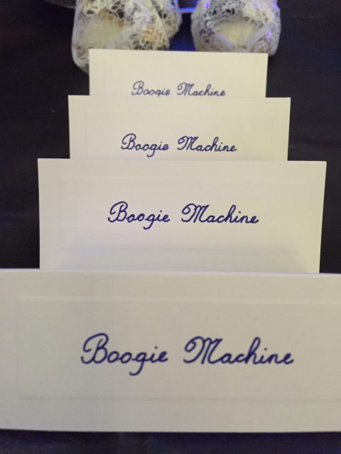Boogie Machine Table Cards