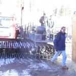 Boogie Machine hauling gear up the mountain