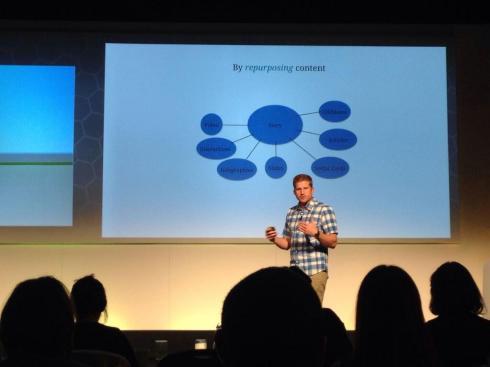 Chris Bennet during his presentation. Photo via @ChrisCaptivate