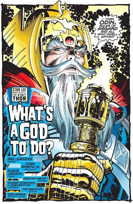 Extrait de Thor par Dan Jurgens et John Romita Jr tome 1