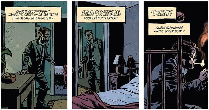 Extrait du comics Fondu au Noir