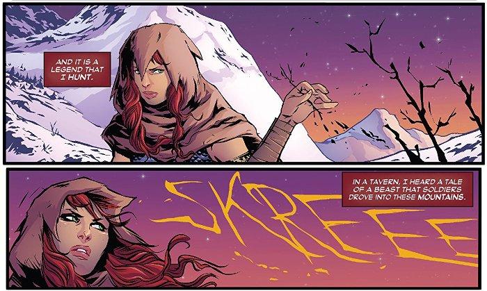 Extrait du comics Red Sonja - Le Trône du faucon