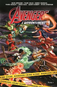 Couverture du comics Avengers : L'affrontement, tome 1