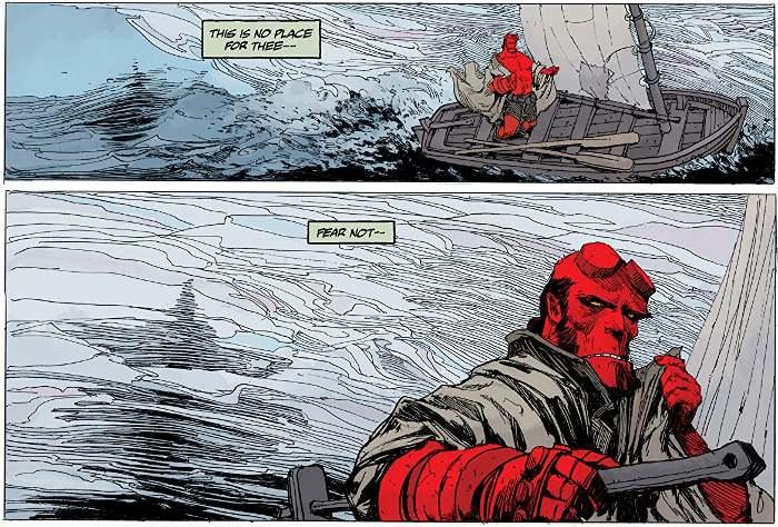 Extrait du comics Hellboy tome 16 Le cirque de minuit